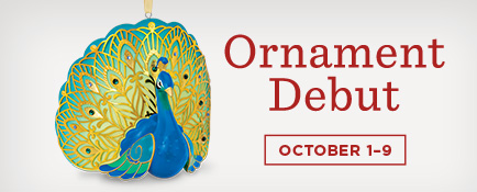Shop the Pretty Peacock Keepsake Ornament and lots more new ornaments at Ornament Debut.