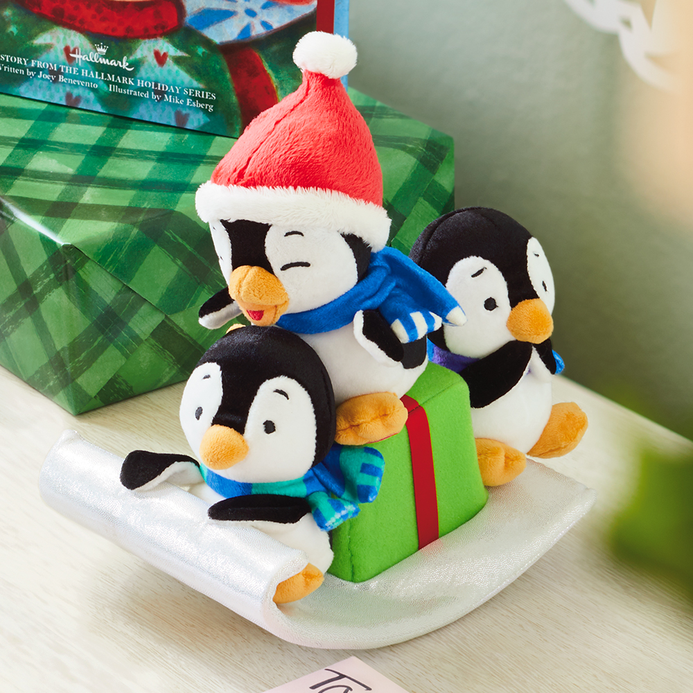Sledding Playful Penguins Musical Stuffed Animal with Motion