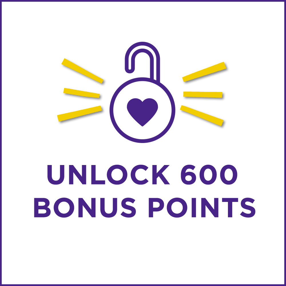Unlock 600 Bonus Points in store with your email address