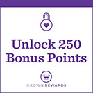 Unlock 250 Bonus Points with each Keepsake Ornament Club Product Shop item purchased. Must be a Crown Rewards member to receive Bonus Points.