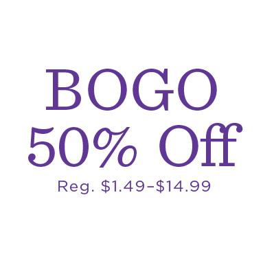 Gift Wrap BOGO 50% off