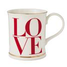 L-O-V-E mug with gold trim