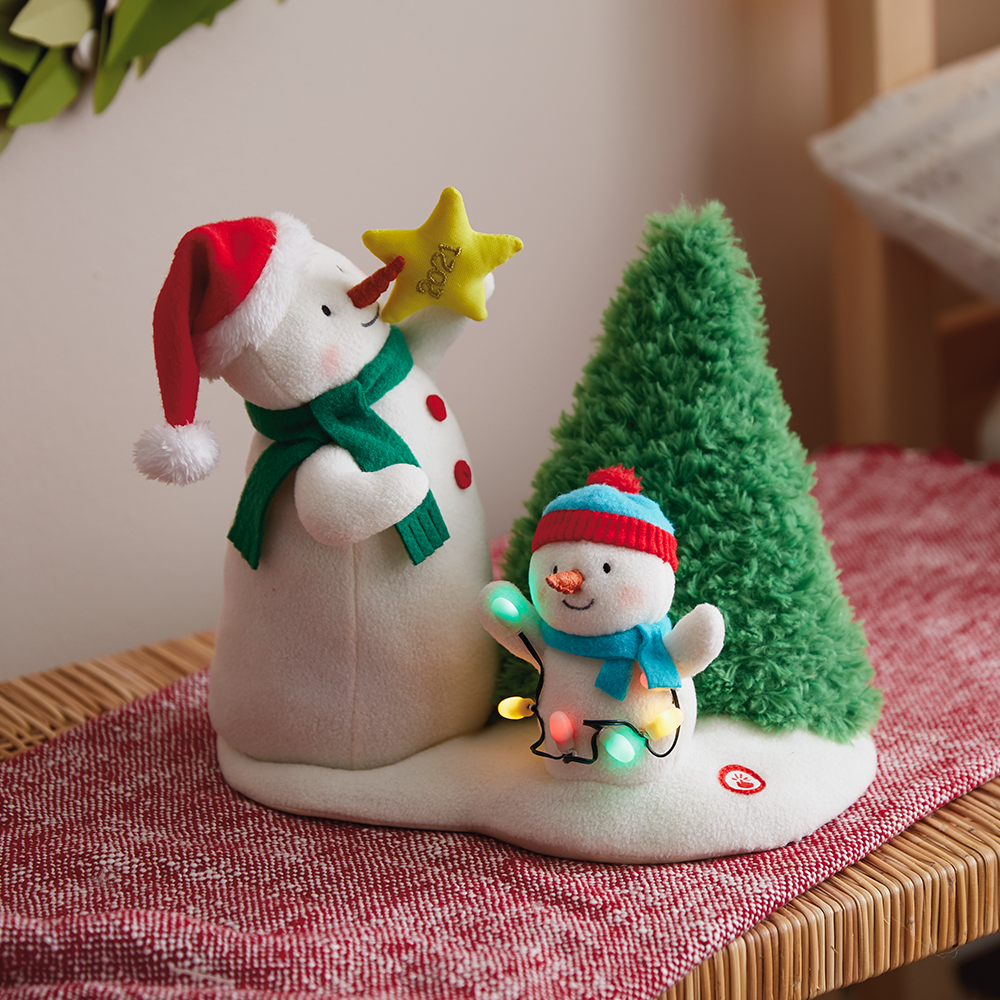 Tangled Up in Christmas Singing Stuffed Snowman