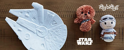 Millennium Falcon™ serving tray and Star Wars™ itty bittys® plush