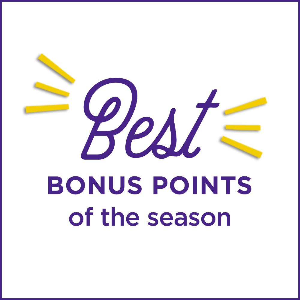 Best Bonus Points of the season!