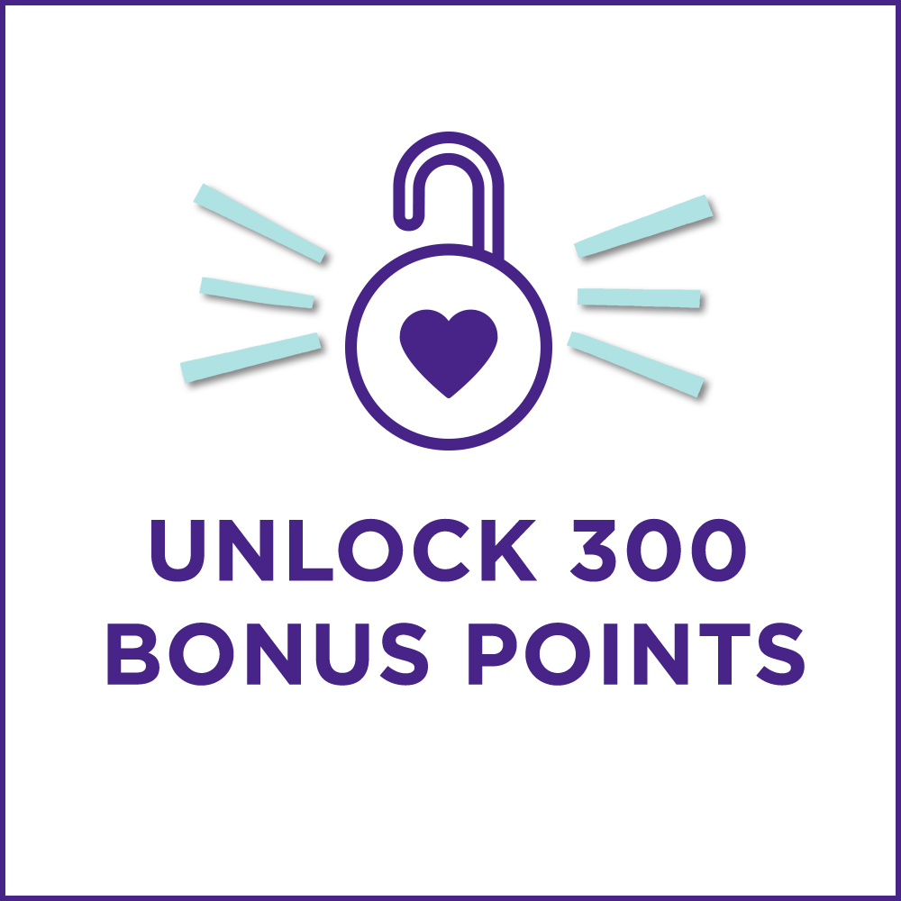 Unlock 300 Bonus Points
