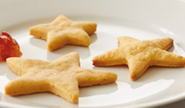 Try these easy-to-make gradution recipes: Cheesy Gold Stars, Queso Blanco Dip-loma & Chips and Mortarboard Cupcakes.