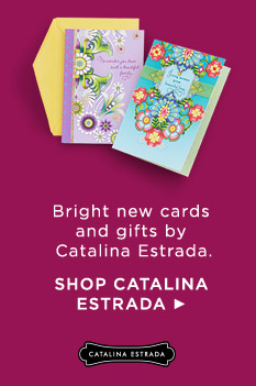 Discover a flair for vibrant design in our new collection by Colombian artist Catalina Estrada, for Hallmark Gold Crown.