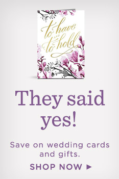 Save on wedding cards and gifts.