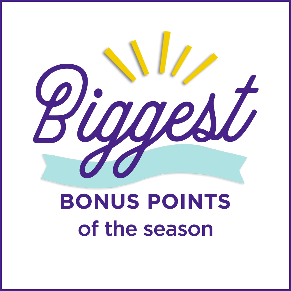 Biggest Bonus Points of the season!
