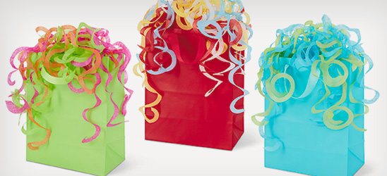 Get free spiral tissue with a gift bag purchase