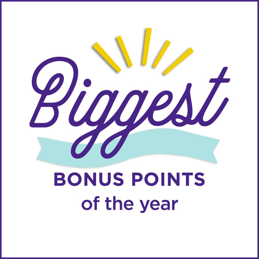 Biggest Bonus Points of the year!