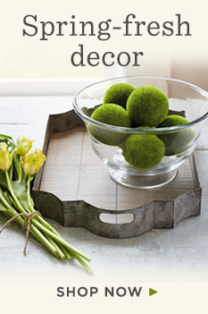 Shop fresh decor for Easter and spring.