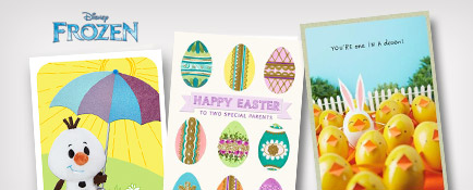 Easter cards featuring Olaf from Disney's Frozen and more