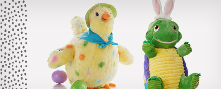 Squawkin' Egg Droppin' Hen and Whirlin', Twirlin' Turtle interactive stuffed animals