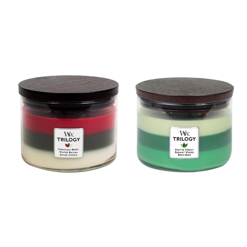 WoodWick® Holiday Trilogy Candles