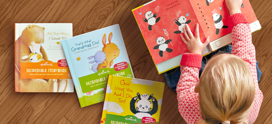 Create special memories for your child with recordable storybooks.