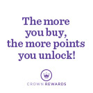 The more you buy, the more points you unlock!