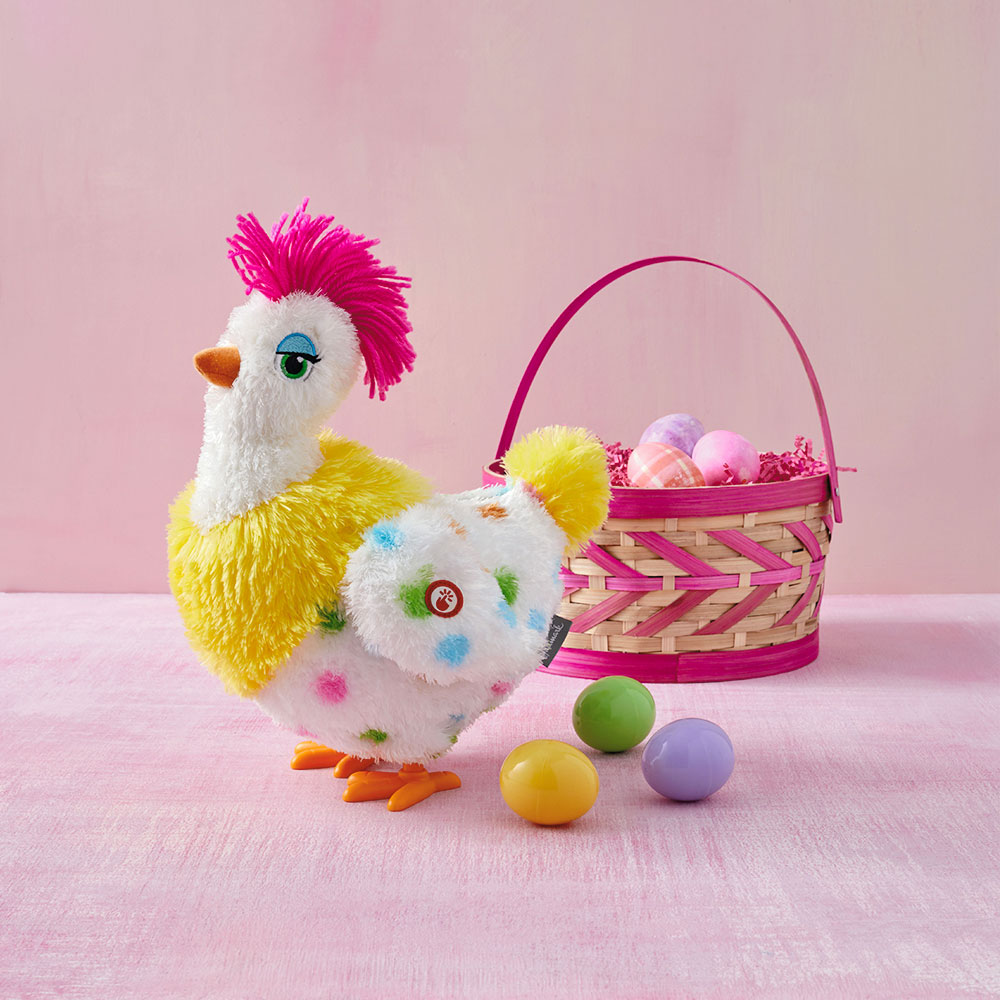 Sassy Squawkin' Egg Droppin' Hen Musical Stuffed Animal With Motion