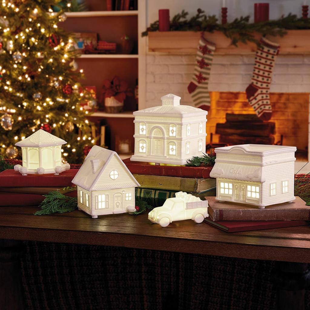 Hallmark Channel Musical Christmas Village With Light