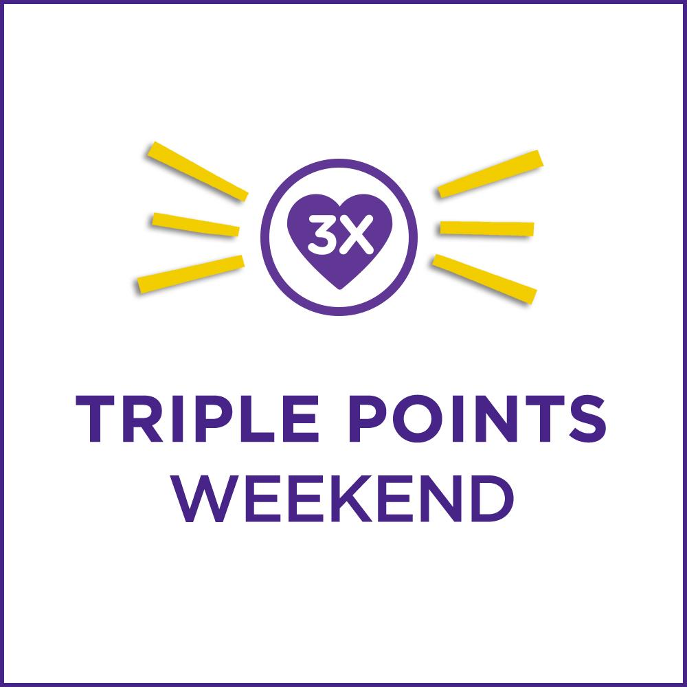 Triple points weekend