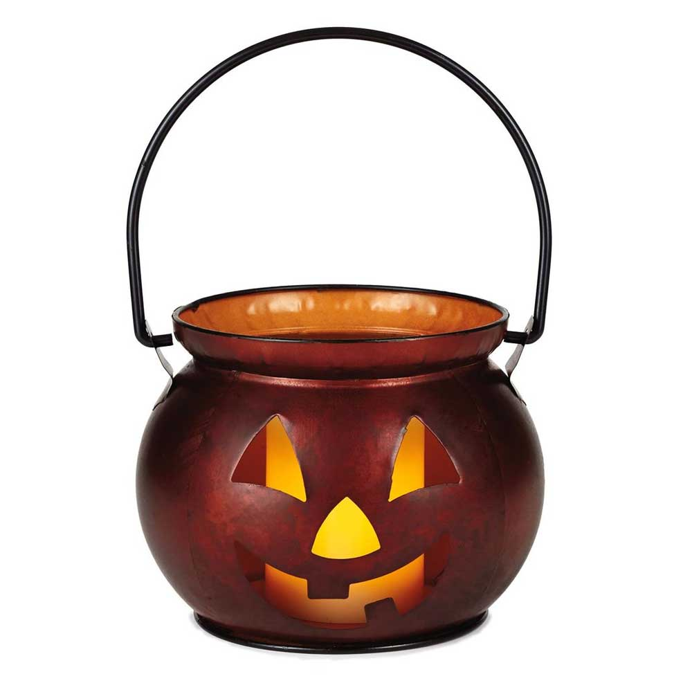 Small Pumpkin Metal Lantern