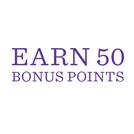 Earn 50 Bonus Points with every Hallmark card you buy.