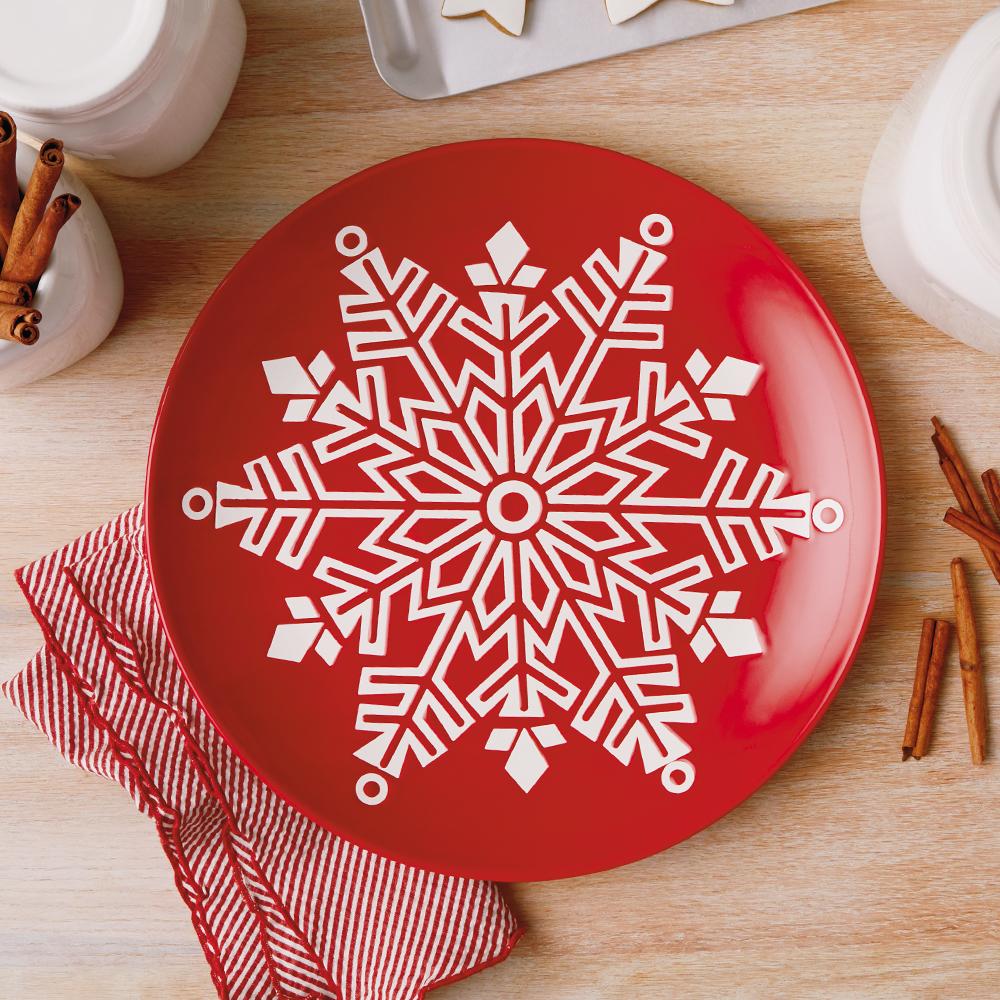 Snowflake Ceramic Serving Plate
