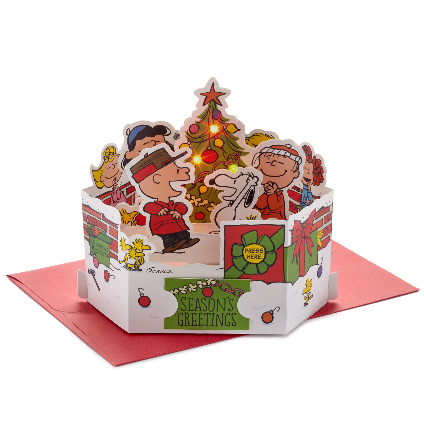 Peanuts® Season's Greetings Musical 3D Pop-Up Christmas