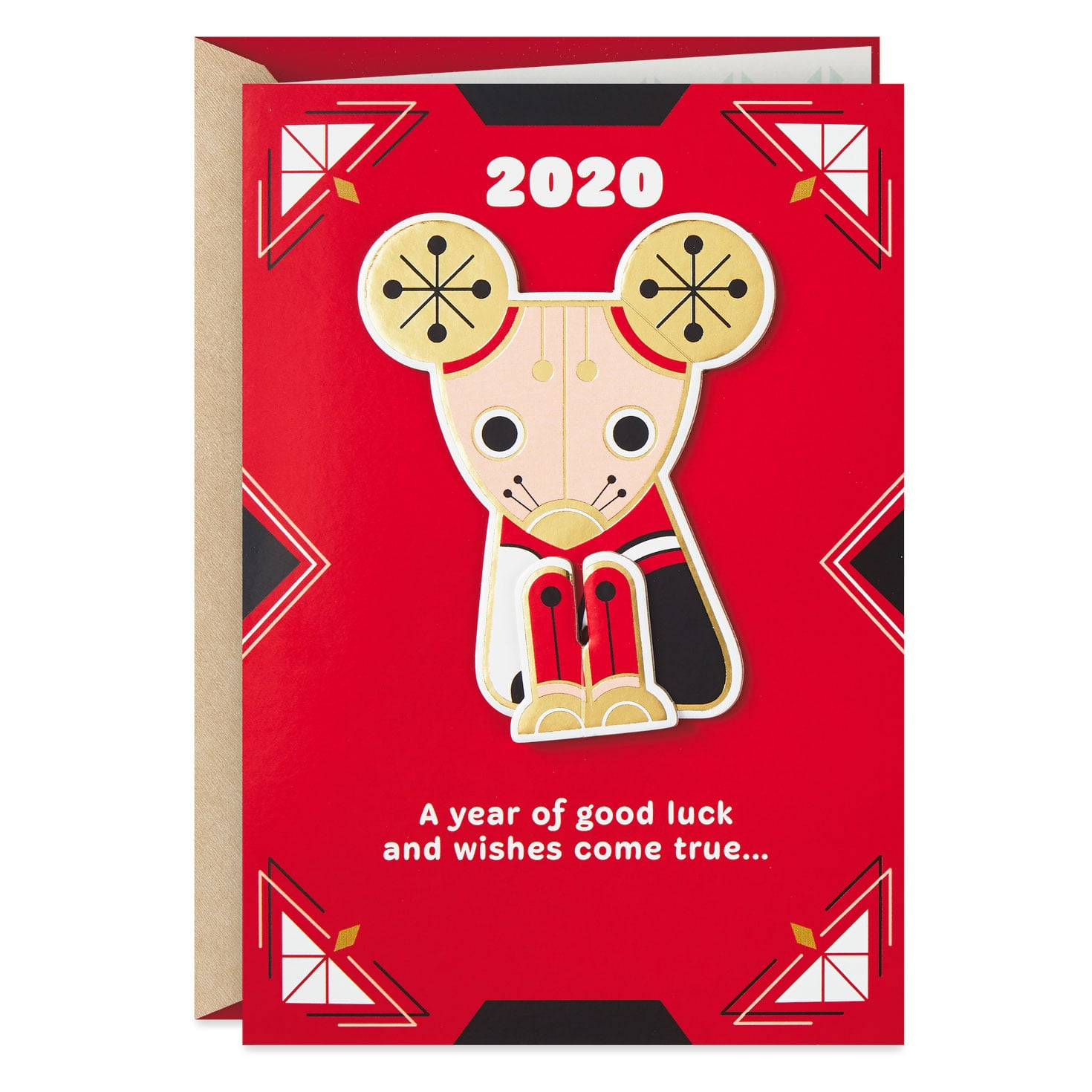 Luck And Wishes Year Of The Rat 2020 Chinese New Year Card