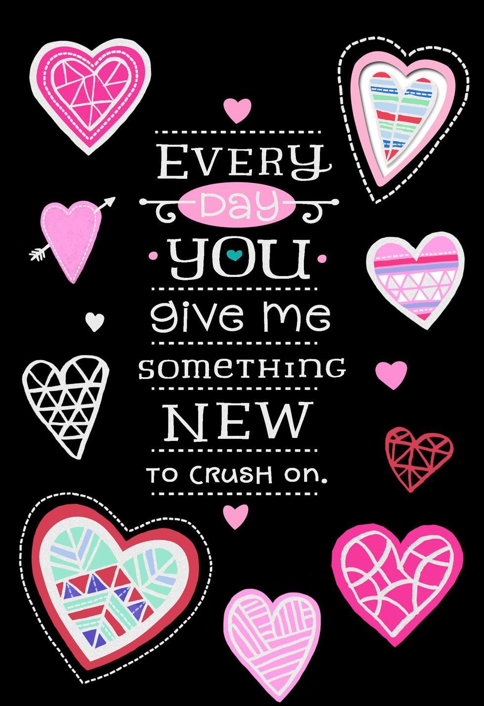 Crushing On You Valentine S Day Card Hallmark