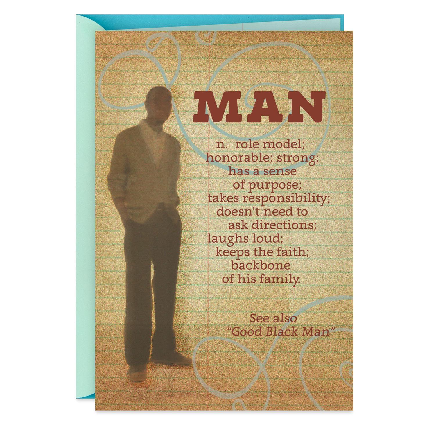 Man Definition Birthday Card Greeting Cards Hallmark