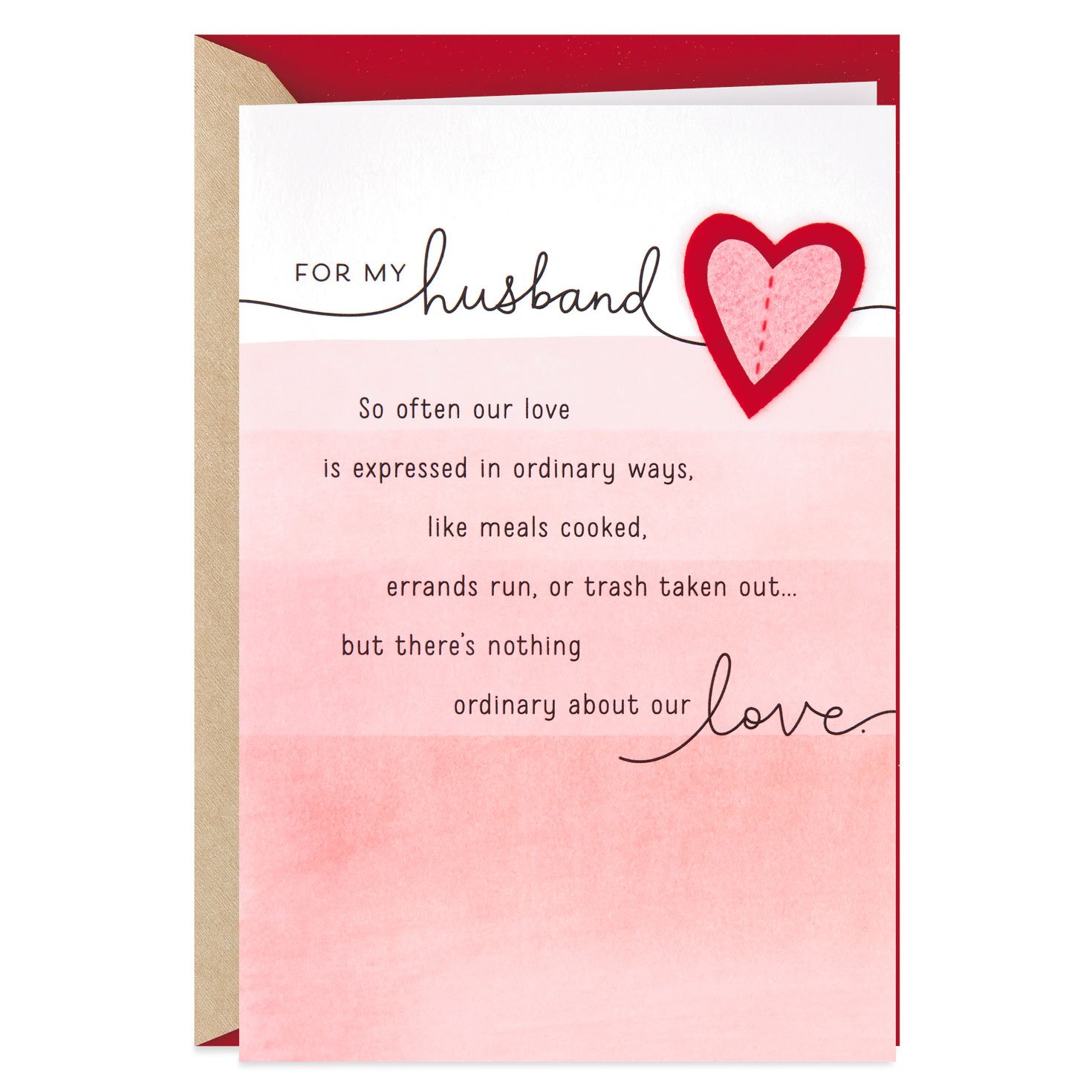 minimalist house design valentines day greeting card for