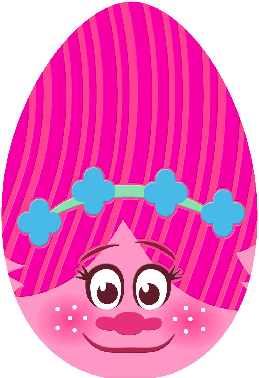 dreamworks trolls poppy egg easter card for kid