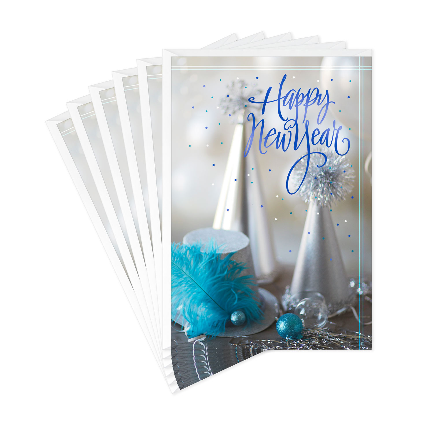 Bright And Happy New Year Cards, Pack Of 6