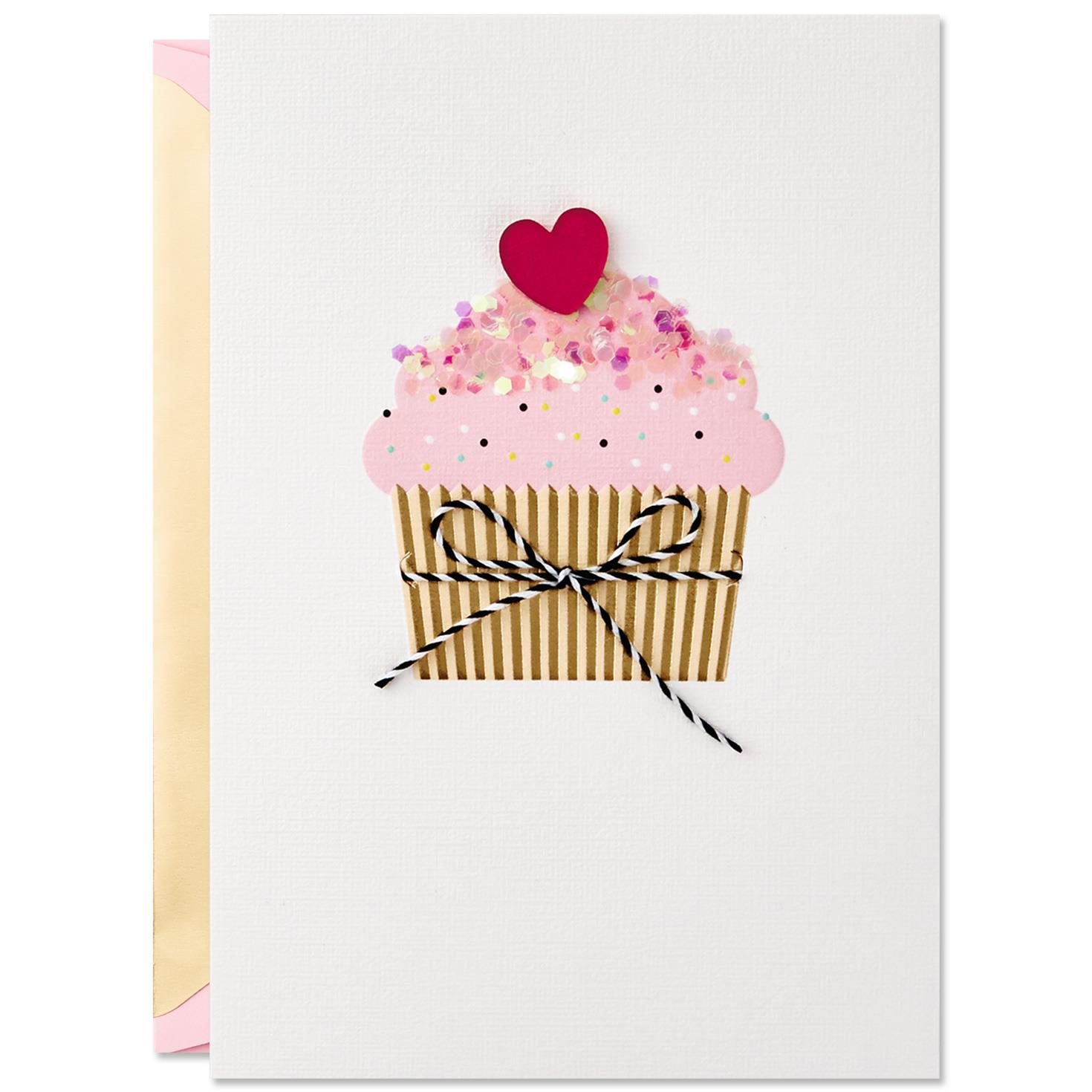 Sprinkles On Top Cupcake Valentine S Day Card Greeting