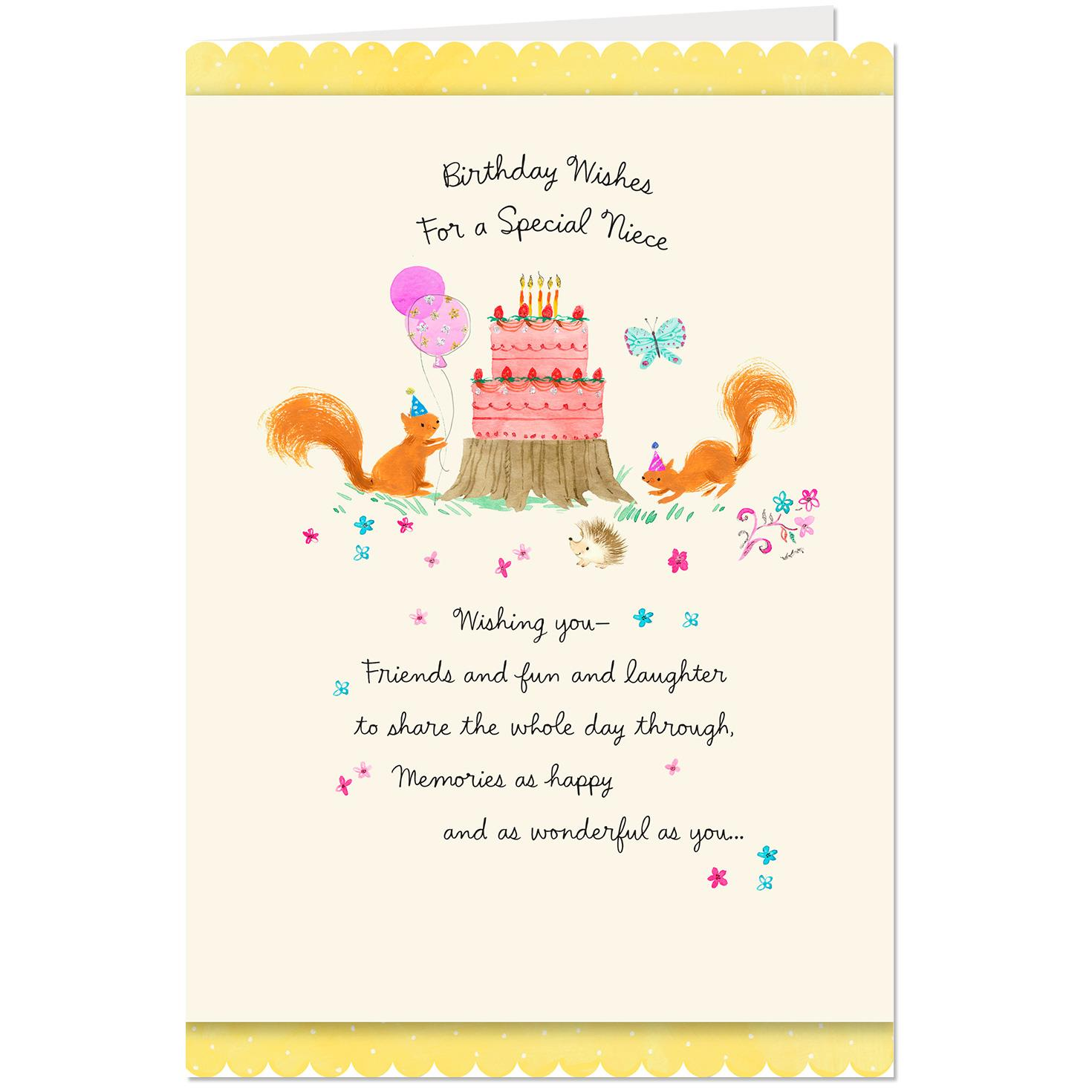 Wishing You Memories As Wonderful Birthday Card For Niece