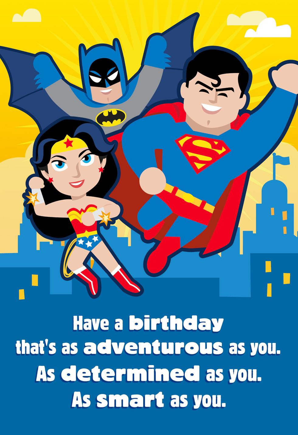 justice league u2122 as adventurous as you musical birthday