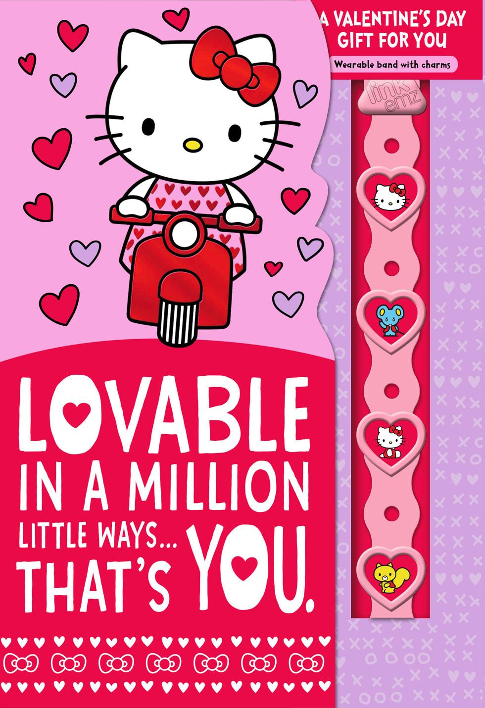 Hello Kitty® Lovable You Valentineu0027s Day Card With Linku0027emz Wristband