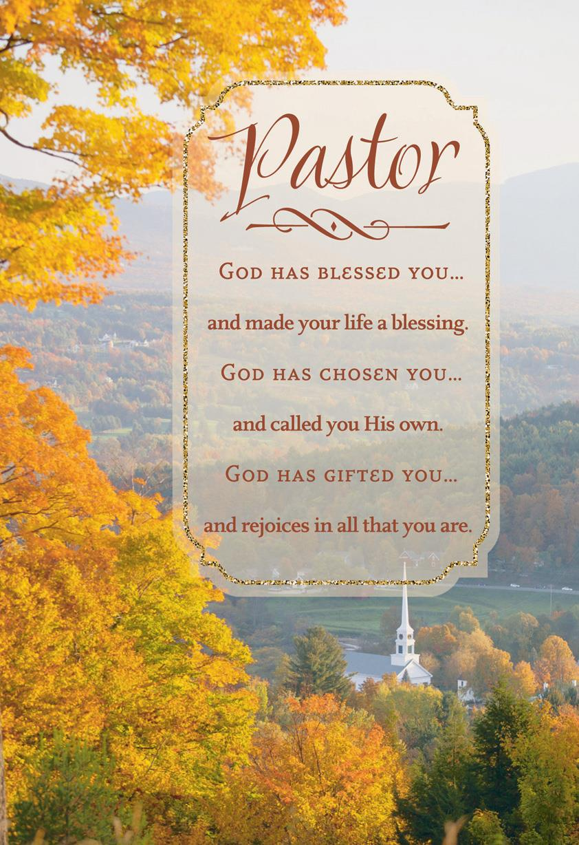 God Has Blessed You Pastor Appreciation Card Greeting