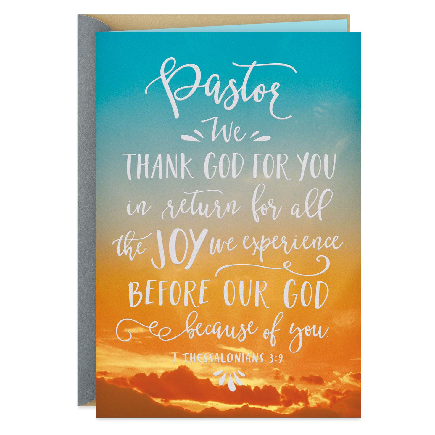 Morning Sunrise Pastor Appreciation Card