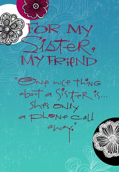 My Sister My Friend Birthday Card Greeting Cards Hallmark – E Birthday Cards Free Hallmark