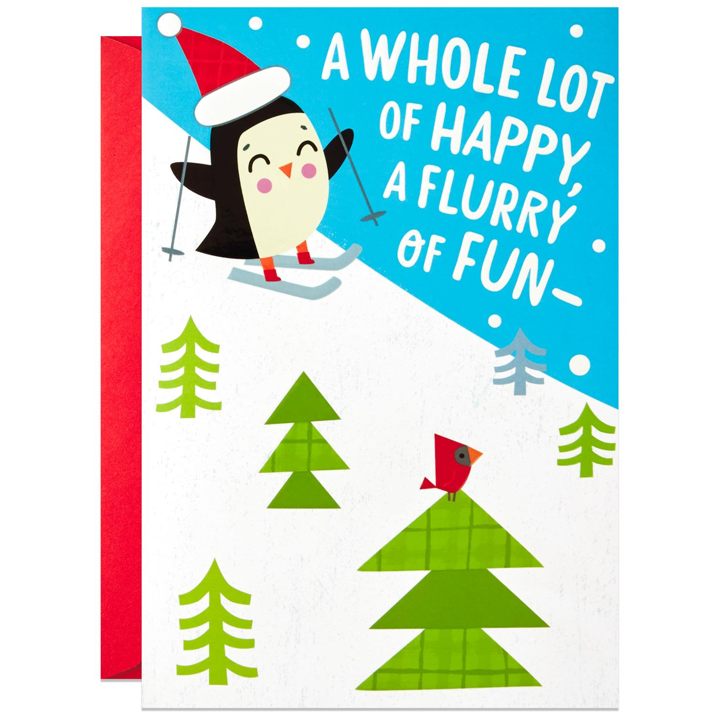 Flurry of Fun Christmas Card Greeting Cards Hallmark