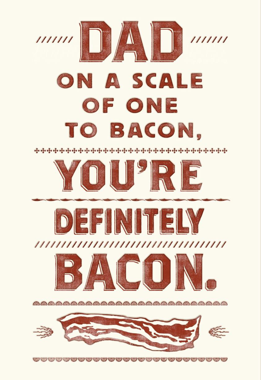 Mmm Bacon Foodie Birthday Card for Dad Greeting Cards Hallmark – Birthday Card for Dad