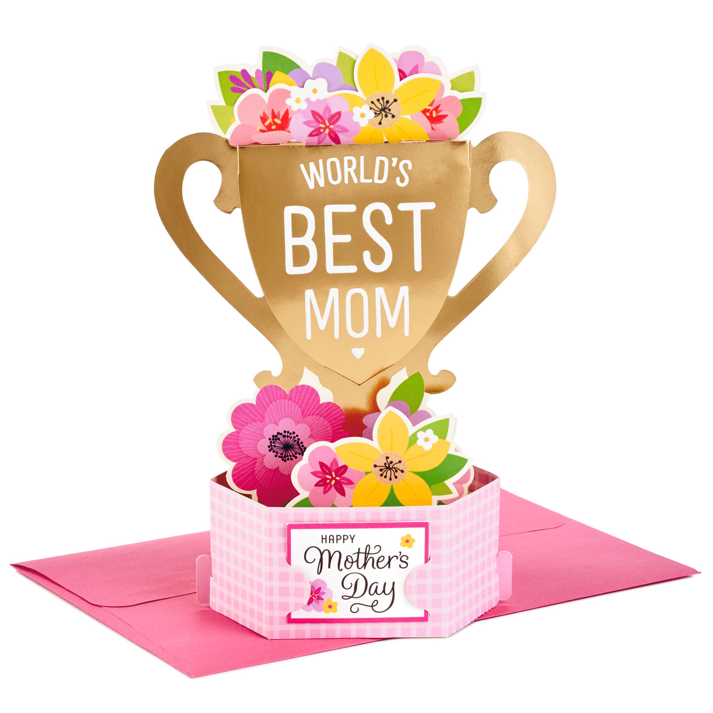 World S Best Mom Trophy Pop Up Mother S Day Card