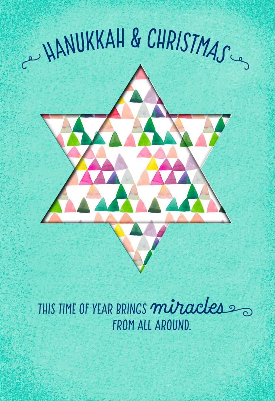 Hanukkah cards hanukkah and christmas miracles card kristyandbryce Choice Image