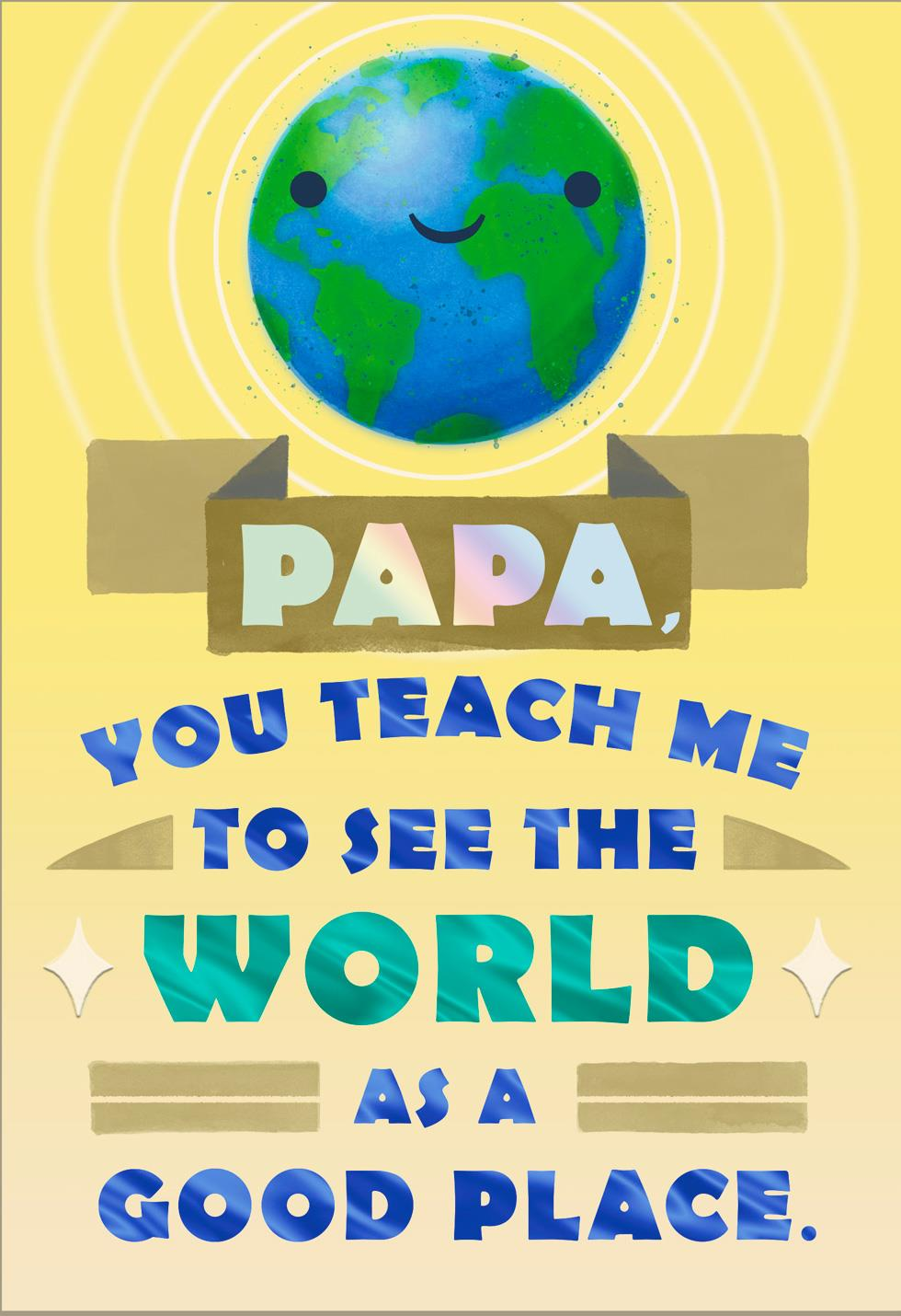The World Is a Good Place Father's Day Card for Grandfather | Tuggl