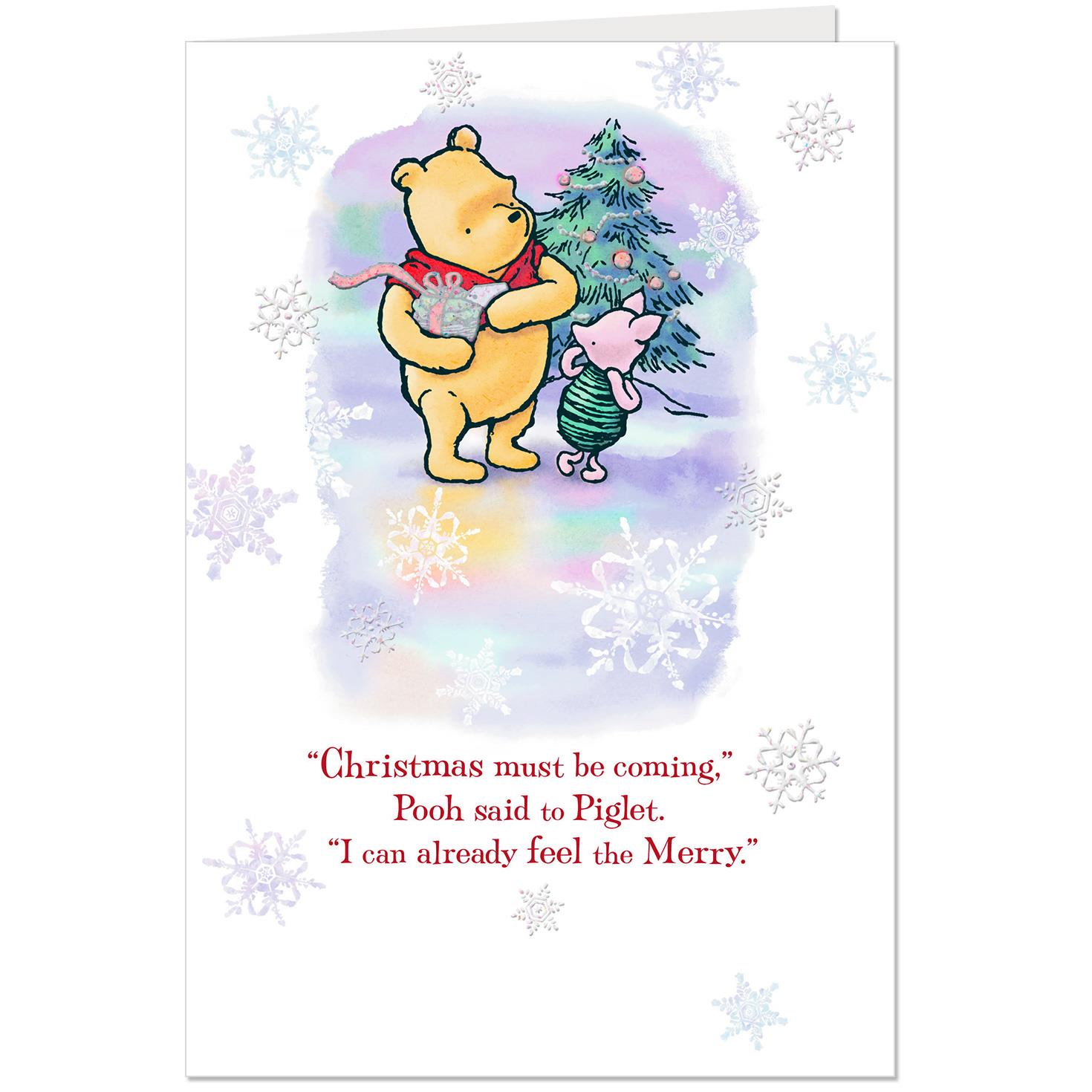 Disney Quotes For Christmas Cards: Disney Winnie The Pooh A Season Of Merry Christmas Card