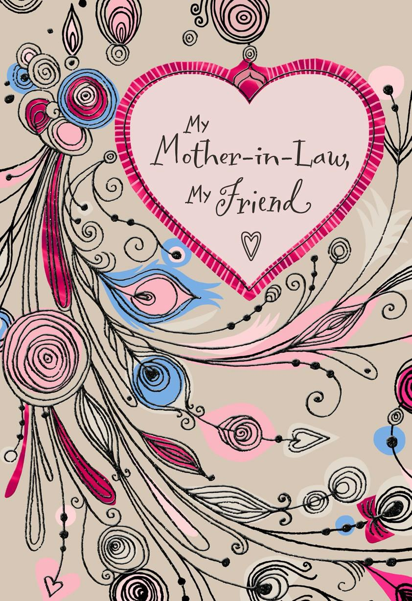My mother in law my friend valentines day card greeting cards my mother in law my friend valentines day card kristyandbryce Images