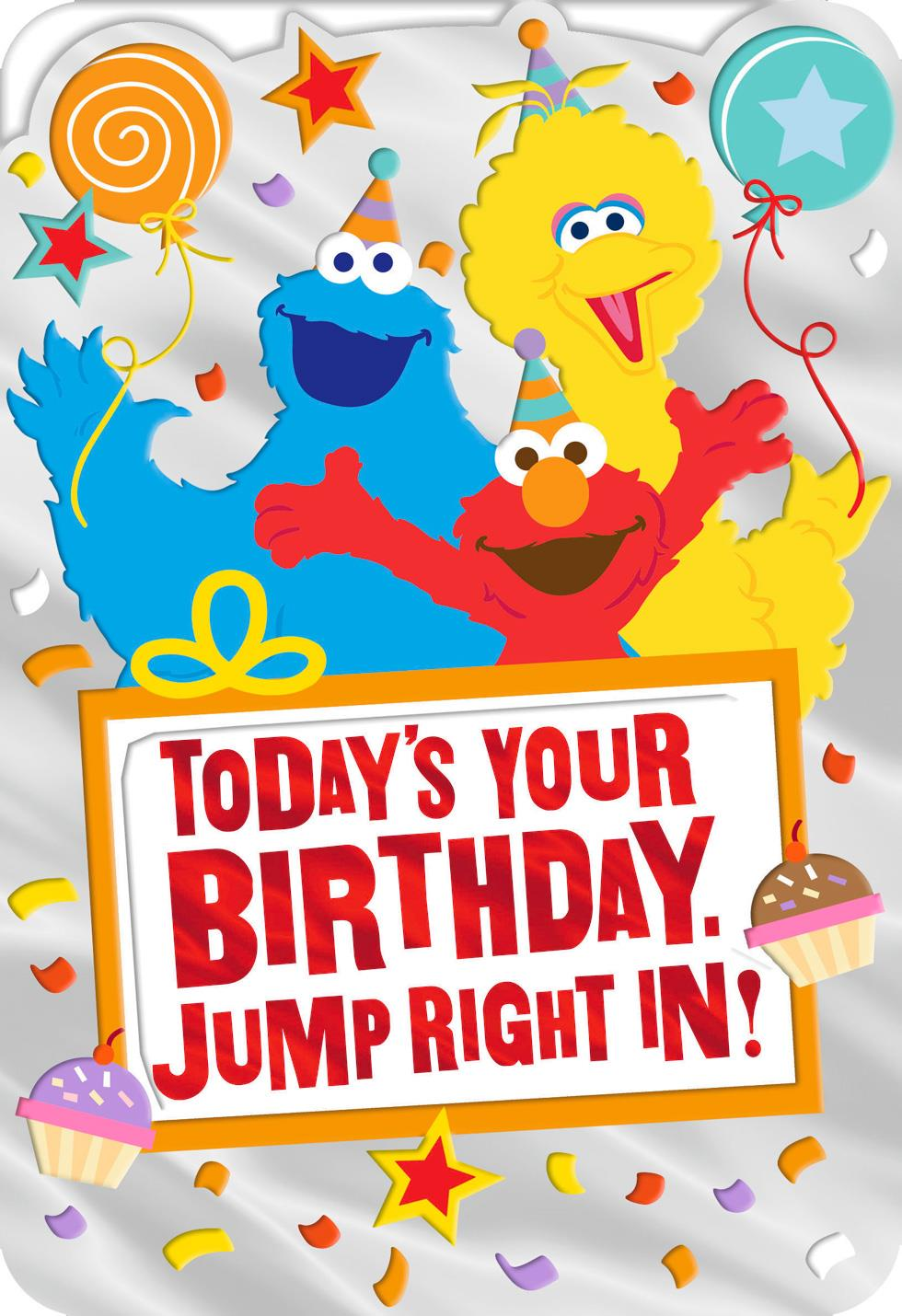 Sesame Street 174 Elmo Big Bird And Cookie Monster Birthday
